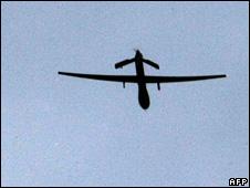 Predator drone aircraft above Kandahar, Afghanistan (file)