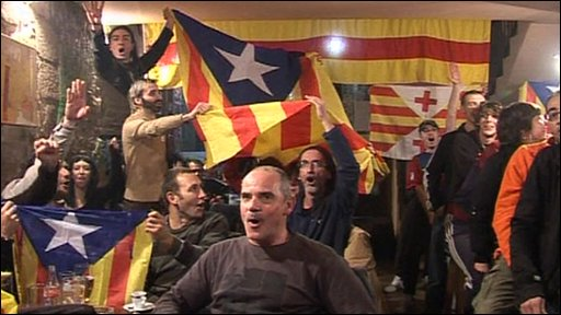 Catalan football supporters