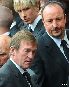 Kenny Dalglish and Rafa Benitez
