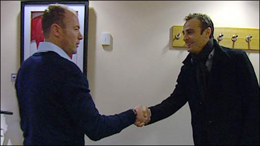 Alan Shearer meets Dimitar Berbatov