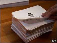 Ballot papers for Catalonia referendum