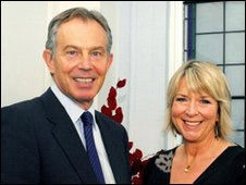 Tony Blair with Fern Britton