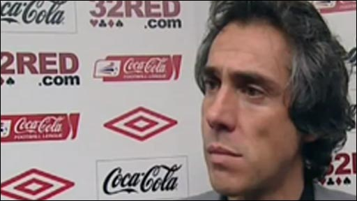 Swansea City manager Paulo Sousa