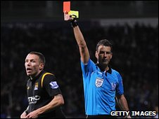 Craig Bellamy is sent off