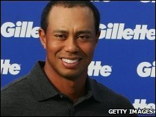 Tiger Woods at a Gillette-sponsored event in Melbourne, Australia, on 11 November