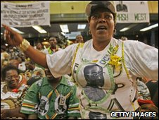 Delegate at Zanu-PF rally in Harare