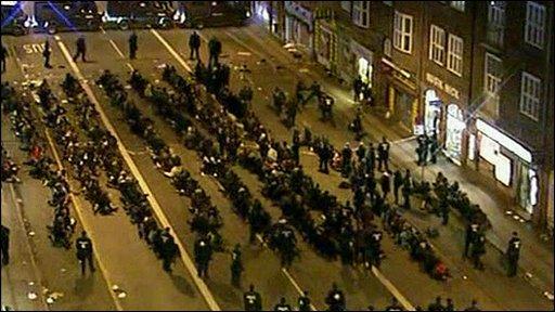 Protesters in Copenhagen