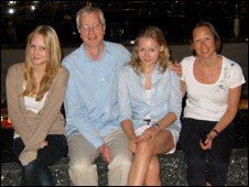 Harriet, Andrew, Charlotte and Rachel Baughen (right)