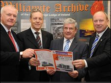 David McNarry, Peter Robinson, Robert Saulters and Jim Allister