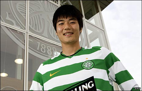Ki Sung-Yong at Celtic's training ground