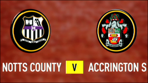 Notts County v Accrington Stanley