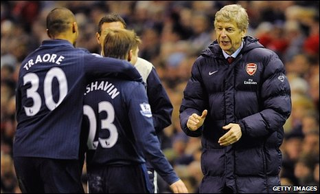 Arsene Wenger (right) was delighted with his team's second-half performance