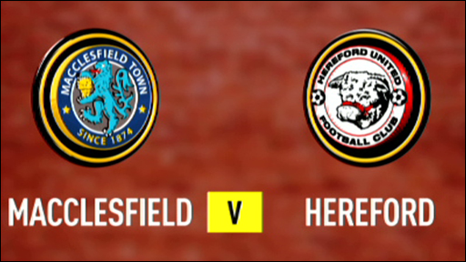 Macclesfield Town v Hereford United