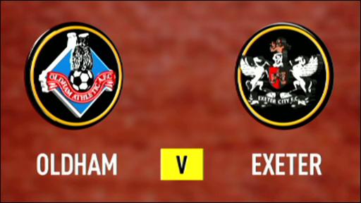 Oldham Athletic v Exeter City