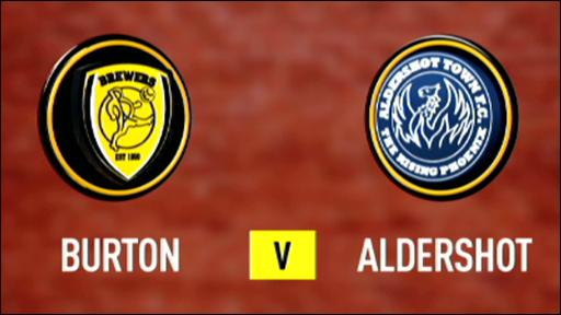 Burton Albion v Aldershot Town