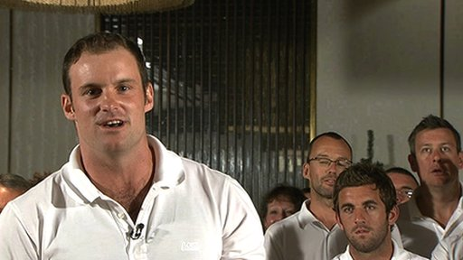 Andrew Strauss and the England cricket team