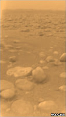 Huygens image of Titan (Nasa/Esa)