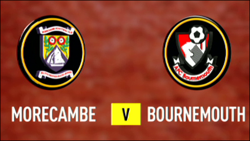 Morecambe v Bournemouth