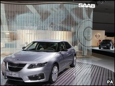 Saab car at LA autoshow