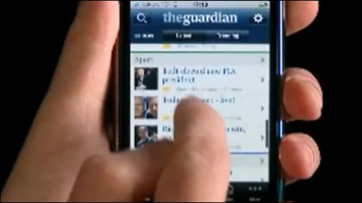 Guardian app on the iPhone
