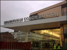 The newly opened Digbeth coach station