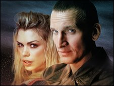 Rose Tyler (Billie Piper) and The Doctor (Christopher Eccleston)