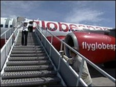 Flyglobespan aircraft