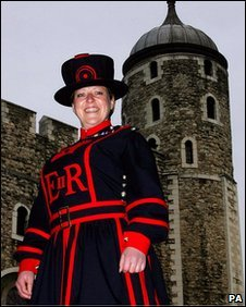 Moira Cameron, who in 2007 became the first Yeoman Warder at the Tower of London in 522 years