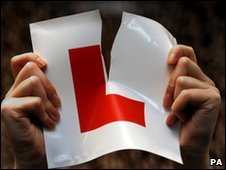 L plate being ripped