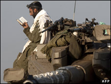 An Israeli soldier prays during a military excercise in November