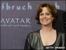 Sigourney Weaver at Avatar premier