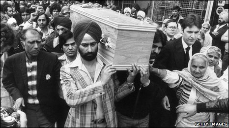 Blair Peach's funeral in 1979
