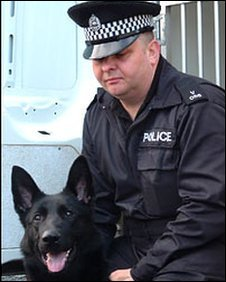 Police dog and handler