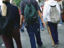 student visiting London