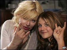Courtney Love and Francis Bean