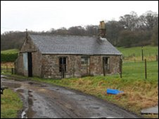 The old station house at Riddings Station
