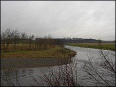 River Liddle looking towards Scotland