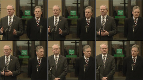 Martin McGuinness and Peter Robinson, frame-by-frame
