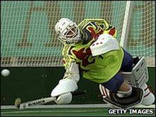 Joanne Thompson, Great Britian women's hockey goalkeep, Atlanta 1996