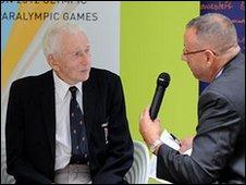 Felixstowe athlete Stan Cox interviewed by BBC Suffolk's Rob Dunger