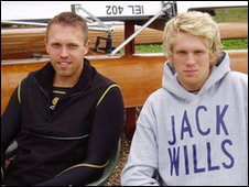 British rowing hopefuls Ben Hicks and Josh Tonnar are interviewed for Lap of Honour