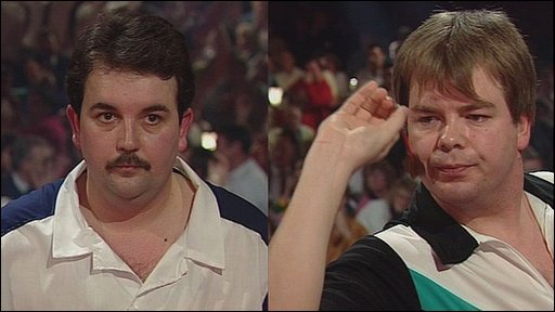 Phil Taylor and Mike Gregory, BDO World Darts Championship final 1992
