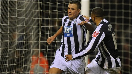 Simon Cox and Jerome Thomas celebrate West Brom's late equaliser