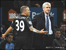 Craig Bellamy and City manager Mark Hughes
