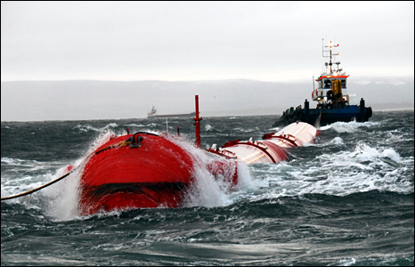 Wave power generation machine