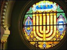 The menorah window