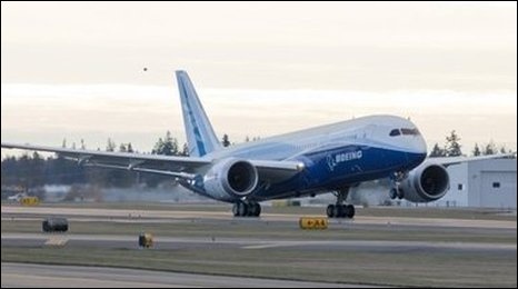 Boeing 787 Dreamliner during testing