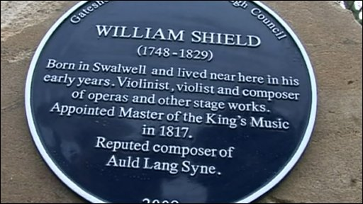Blue plaque to Willaim Shield