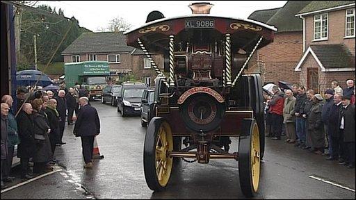 Funeral of Great Dorset Steam Fair boss