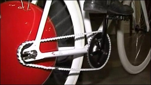 The Copenhagen Wheel fitted on a bicycle